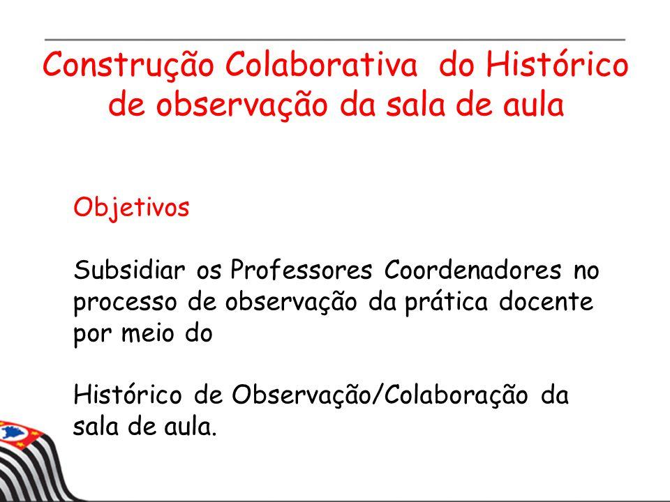 Construção Colaborativa do Histórico de observação da sala de aula