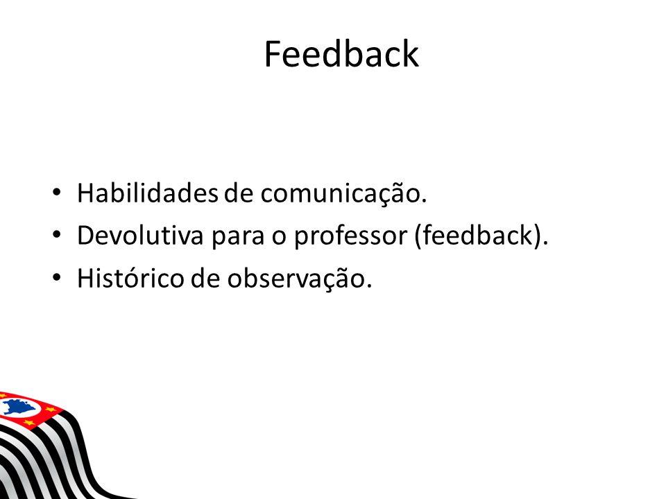 Feedback Habilidades de comunicação.