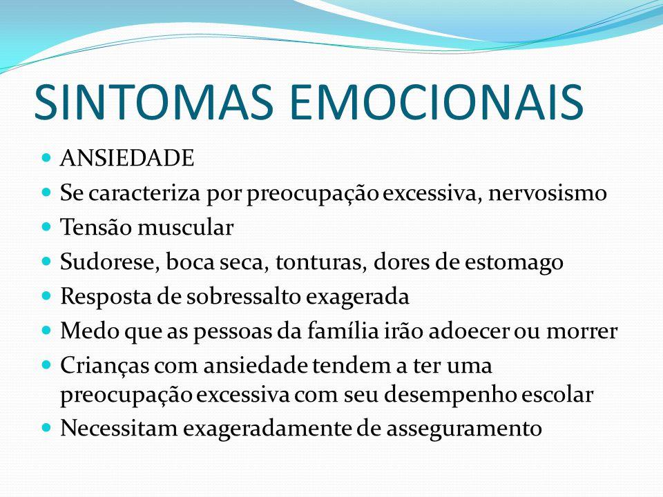 SINTOMAS EMOCIONAIS ANSIEDADE