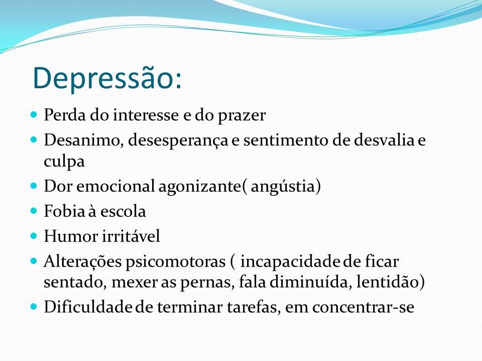 Depressão: Perda do interesse e do prazer