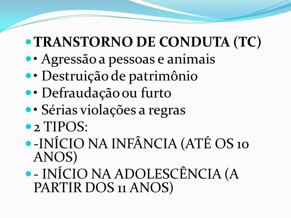TRANSTORNO DE CONDUTA (TC)