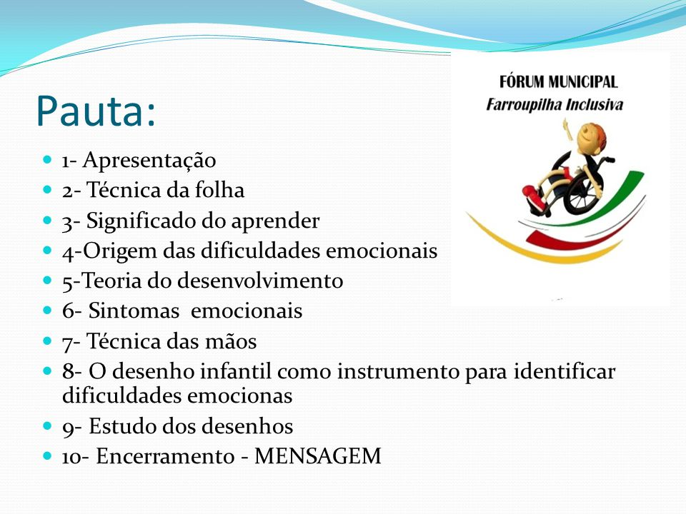 Pauta: 1- Apresentação 2- Técnica da folha 3- Significado do aprender