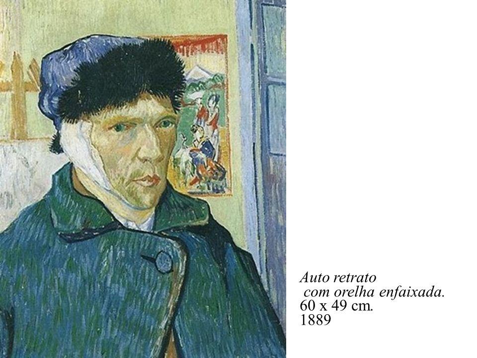 Auto retrato com orelha enfaixada. 60 x 49 cm. 1889