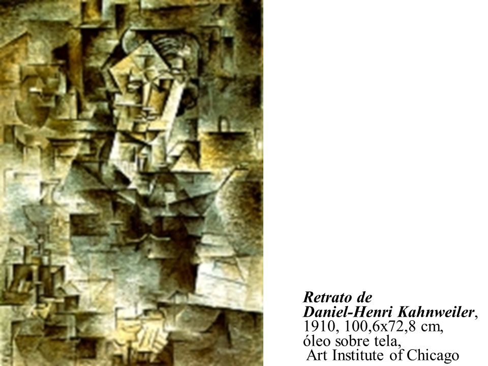 Retrato de Daniel-Henri Kahnweiler, 1910, 100,6x72,8 cm, óleo sobre tela, Art Institute of Chicago