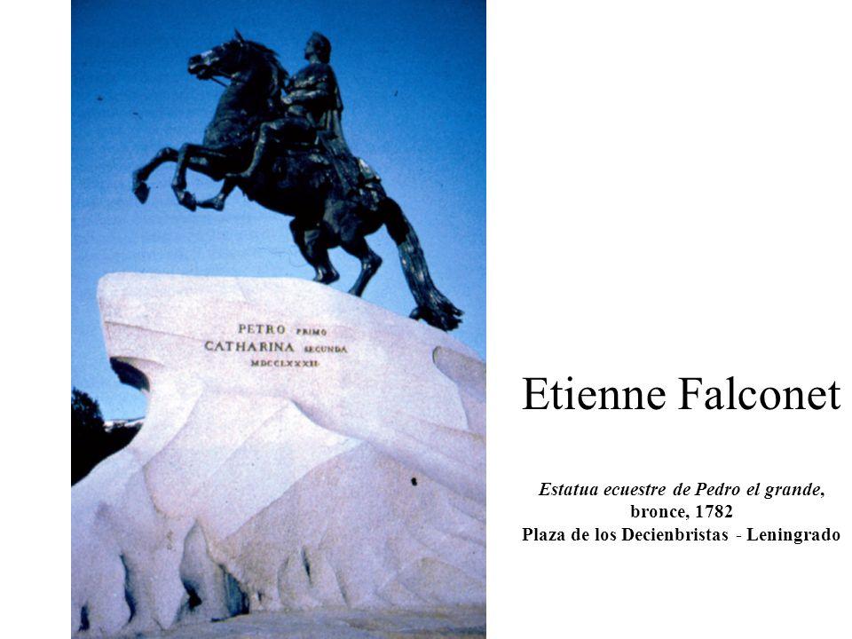 Etienne Falconet Estatua ecuestre de Pedro el grande, bronce, 1782 Plaza de los Decienbristas - Leningrado