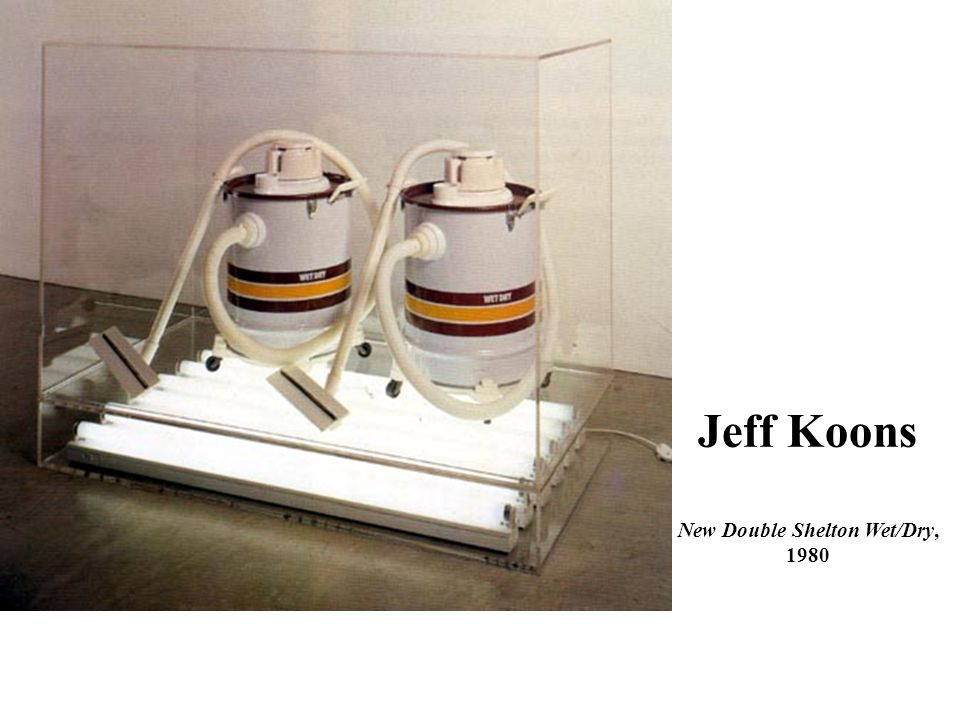 Jeff Koons New Double Shelton Wet/Dry, 1980