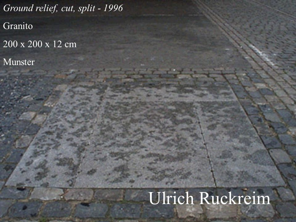 Ulrich Ruckreim Ground relief, cut, split - 1996 Granito