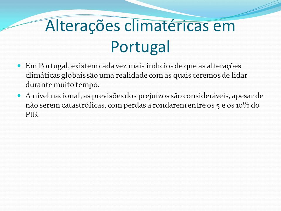 Alterações climatéricas em Portugal
