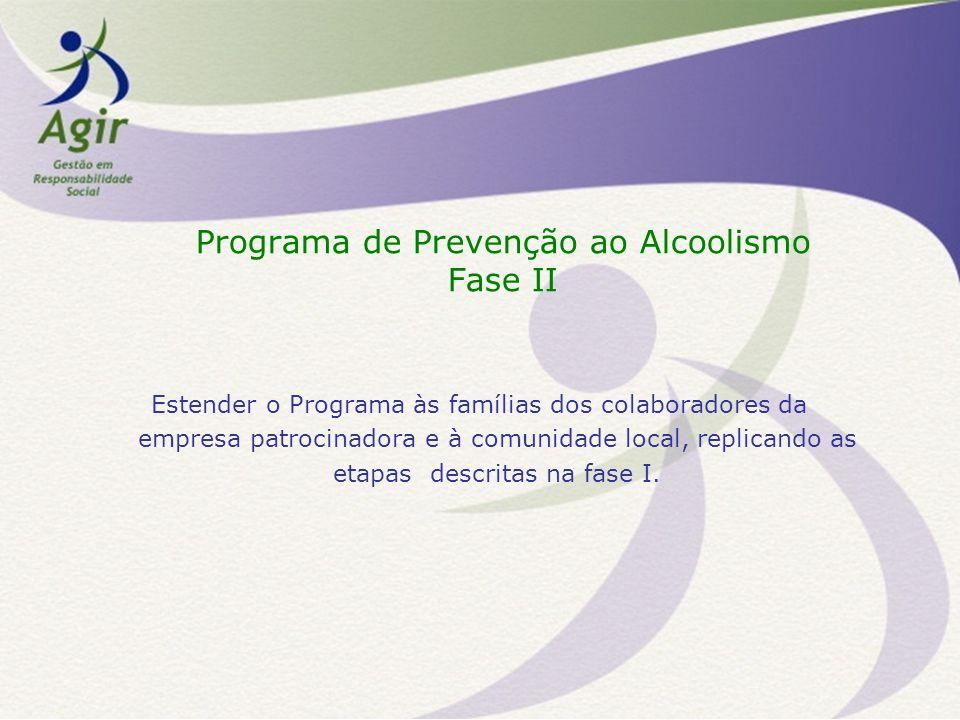 Programa de Prevenção ao Alcoolismo Fase II