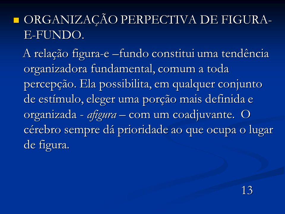 ORGANIZAÇÃO PERPECTIVA DE FIGURA-E-FUNDO.