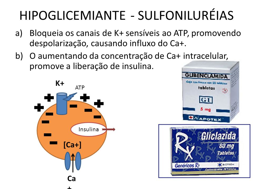 HIPOGLICEMIANTE - SULFONILURÉIAS
