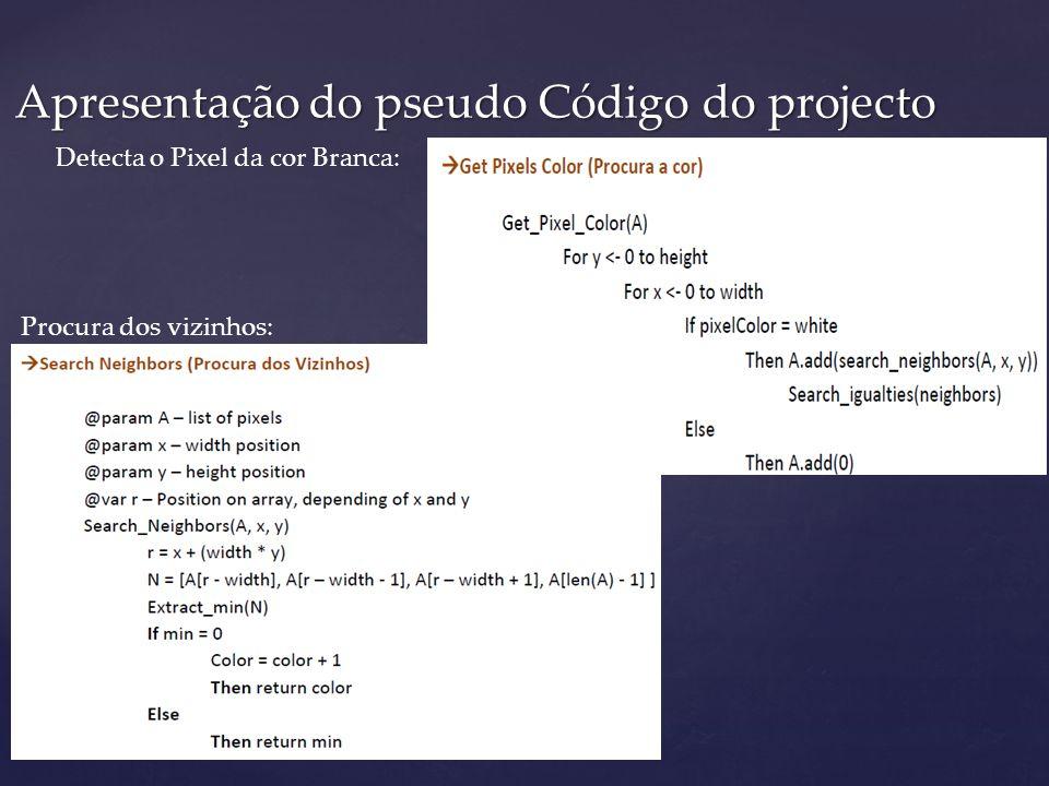 Apresentação do pseudo Código do projecto