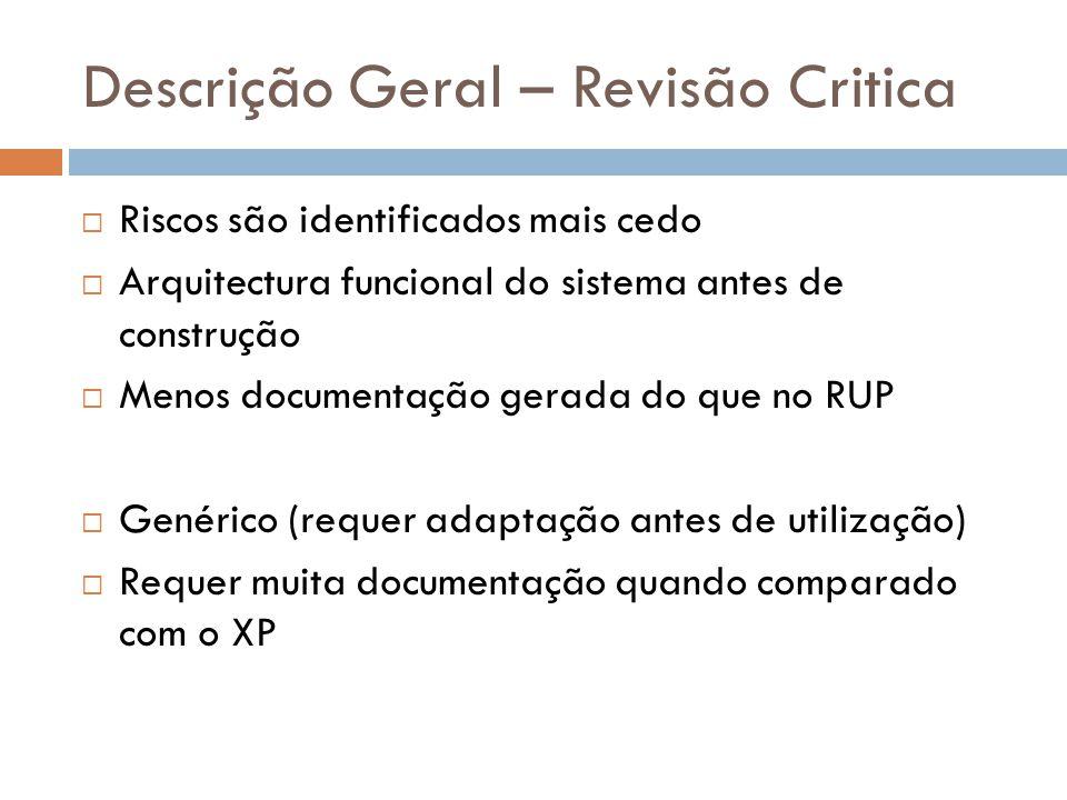 Descrição Geral – Revisão Critica