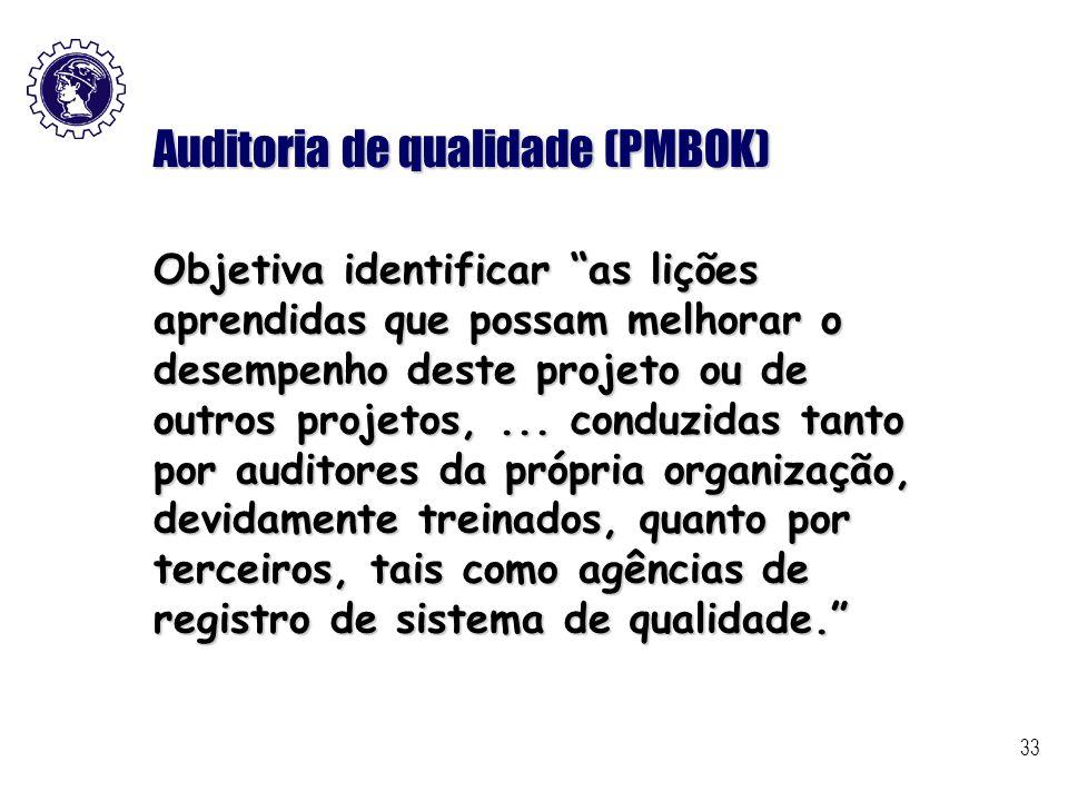Auditoria de qualidade (PMBOK)