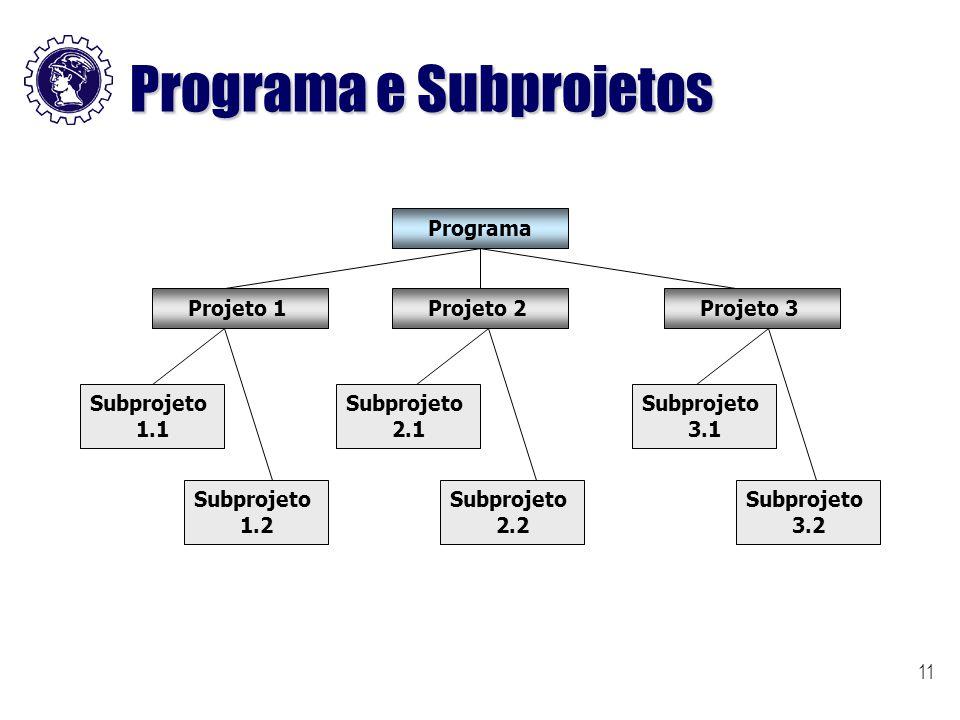 Programa e Subprojetos