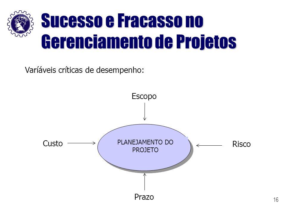 Sucesso e Fracasso no Gerenciamento de Projetos