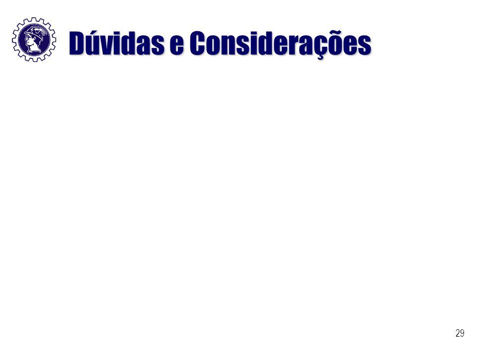 Dúvidas e Considerações