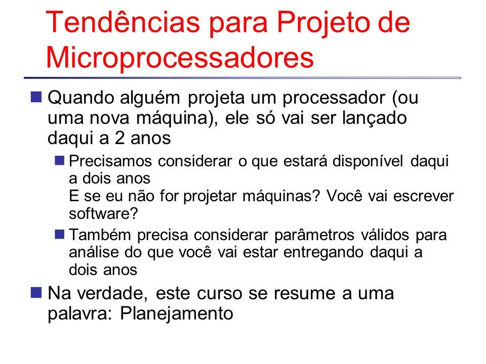 Tendências para Projeto de Microprocessadores