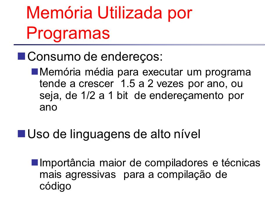 Memória Utilizada por Programas