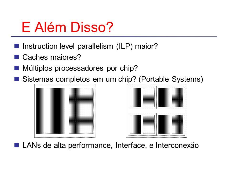E Além Disso Instruction level parallelism (ILP) maior