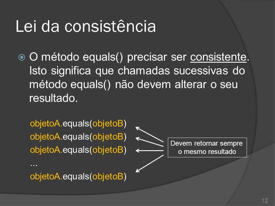 Lei da consistência