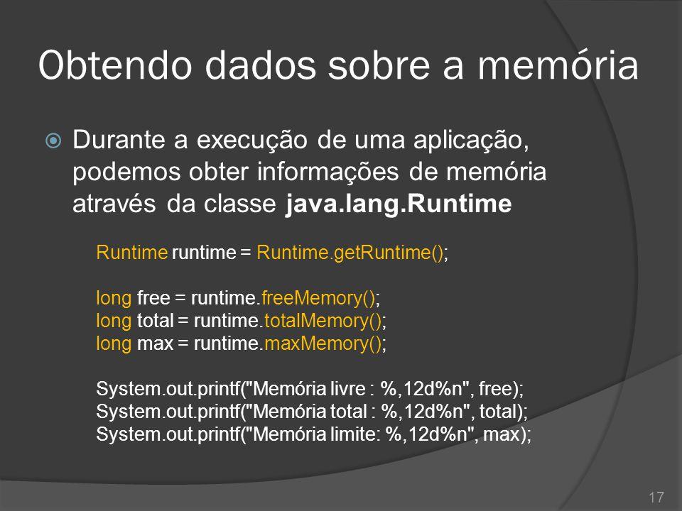 Obtendo dados sobre a memória