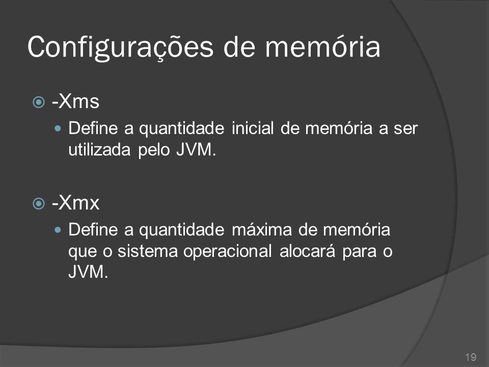 Configurações de memória