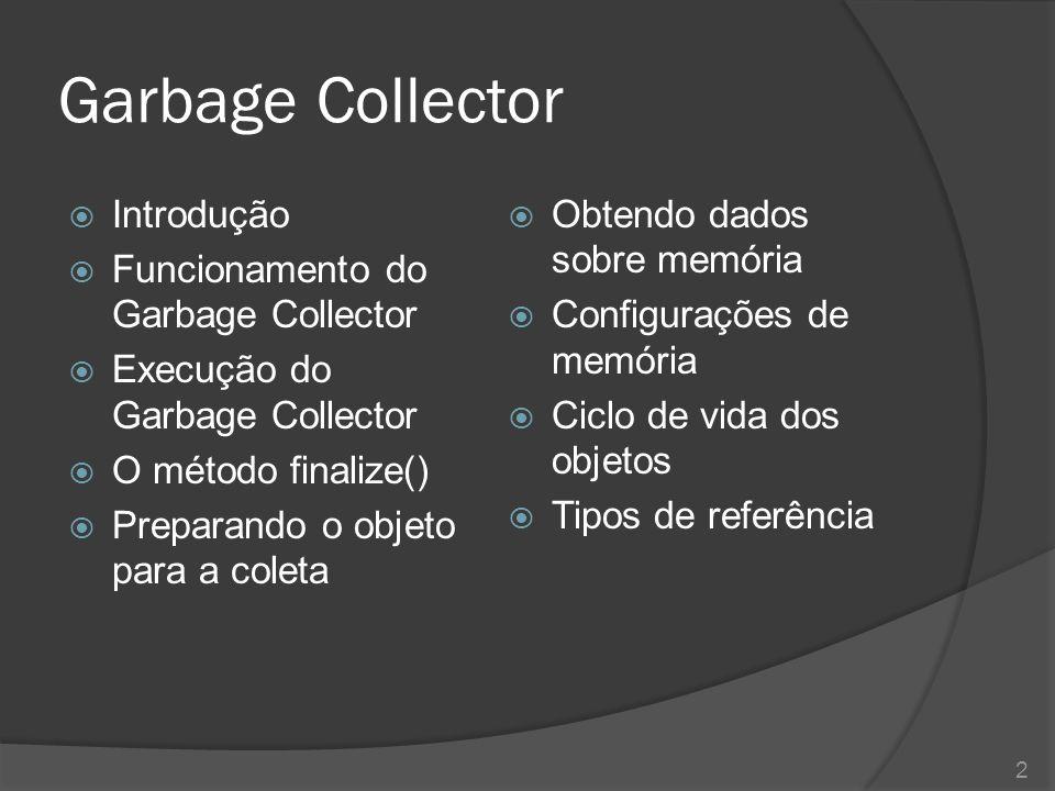 Garbage Collector Introdução Funcionamento do Garbage Collector