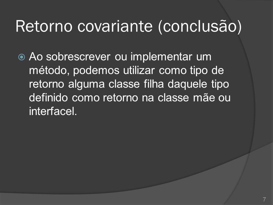 Retorno covariante (conclusão)