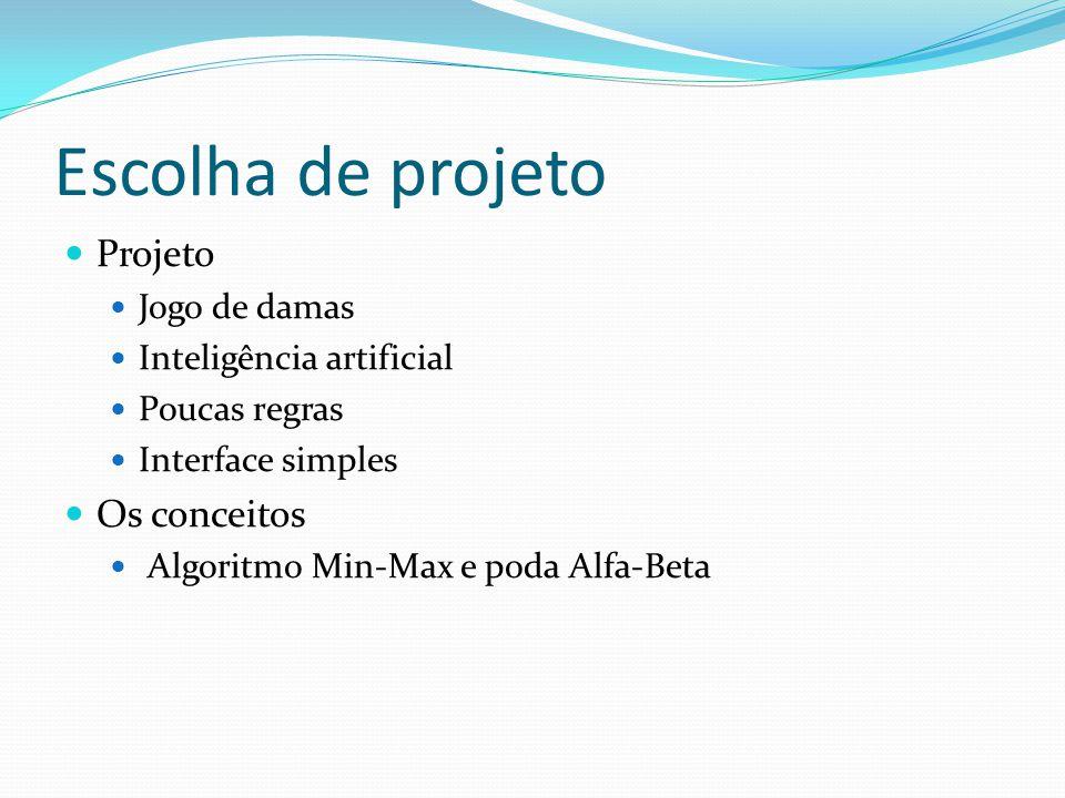 Escolha de projeto Projeto Os conceitos Jogo de damas