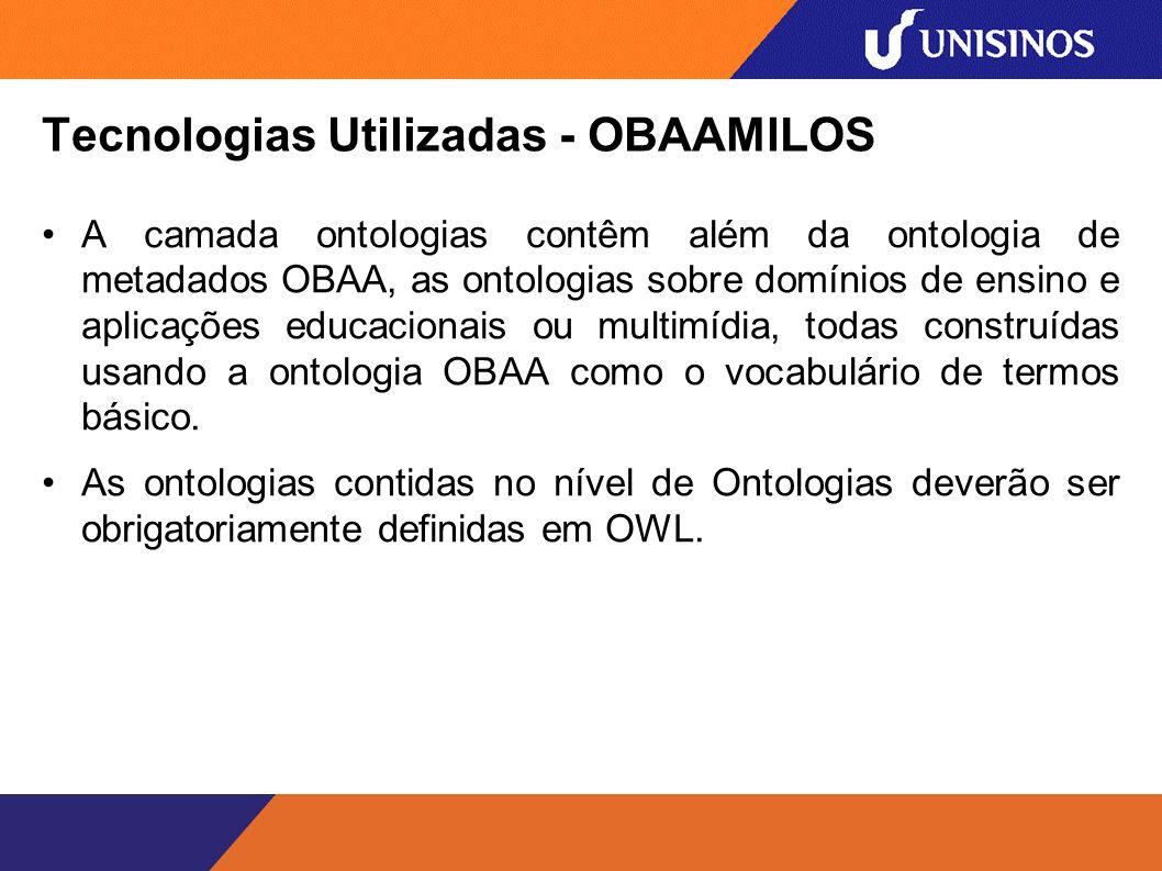 Tecnologias Utilizadas - OBAAMILOS