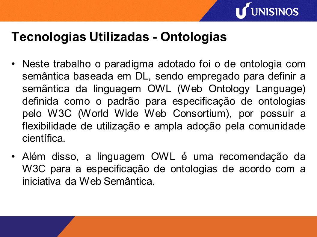 Tecnologias Utilizadas - Ontologias