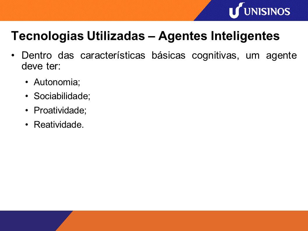 Tecnologias Utilizadas – Agentes Inteligentes