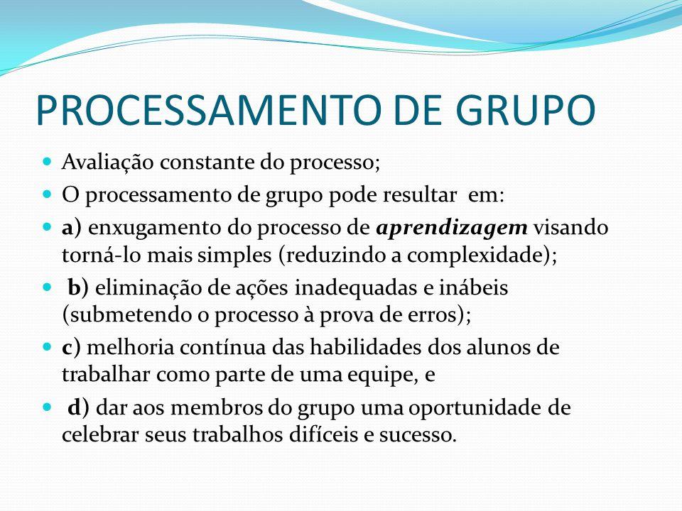 PROCESSAMENTO DE GRUPO