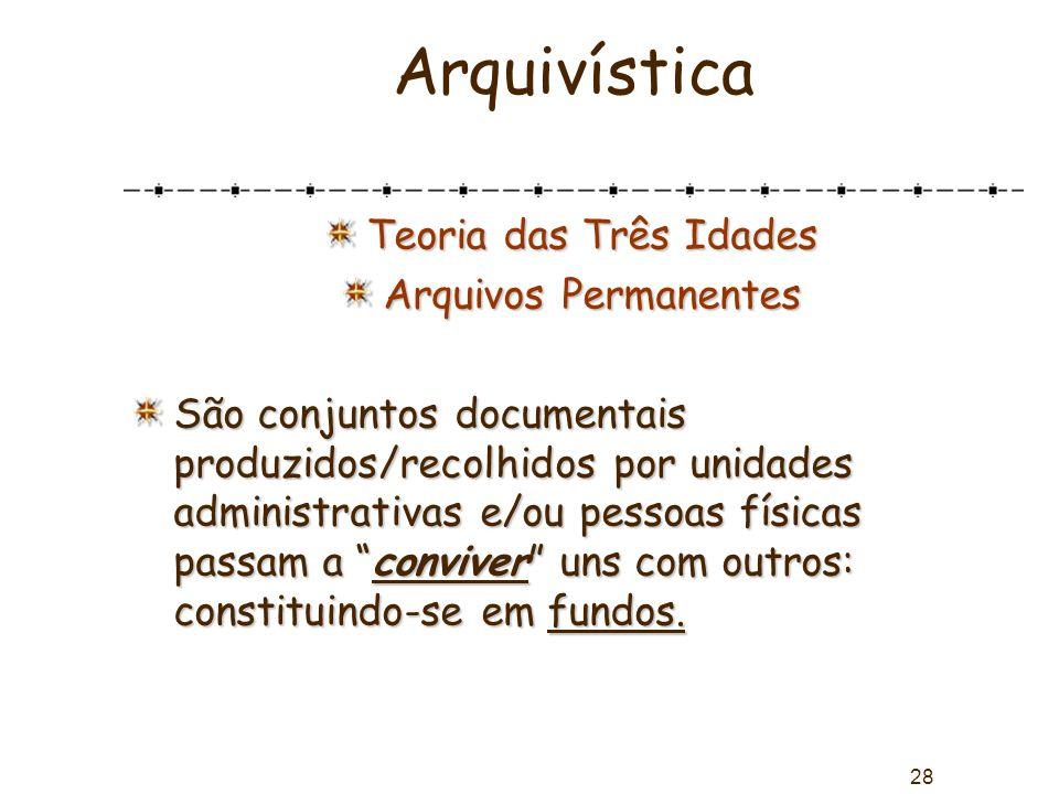Arquivística Teoria das Três Idades Arquivos Permanentes