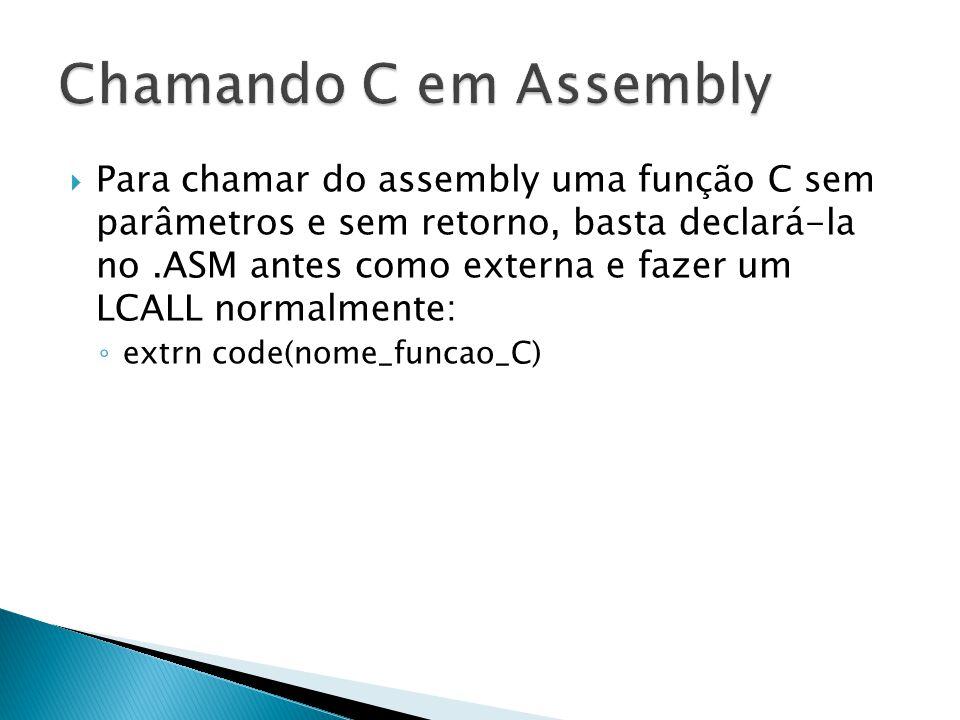 Chamando C em Assembly