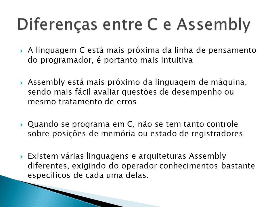Diferenças entre C e Assembly