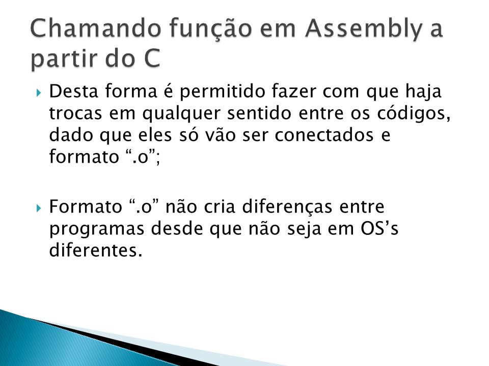 Chamando função em Assembly a partir do C