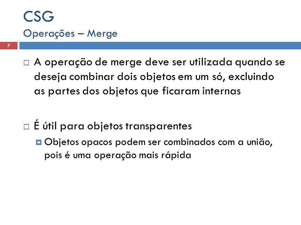 CSG Operações – Merge.