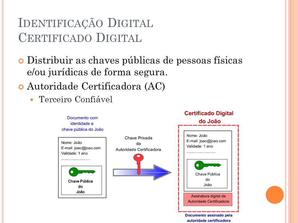 Identificação Digital Certificado Digital