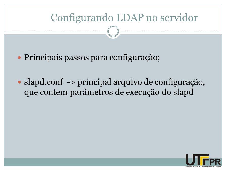 Configurando LDAP no servidor