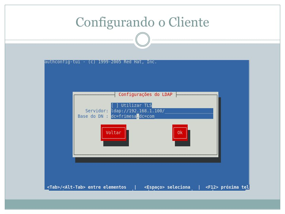 Configurando o Cliente