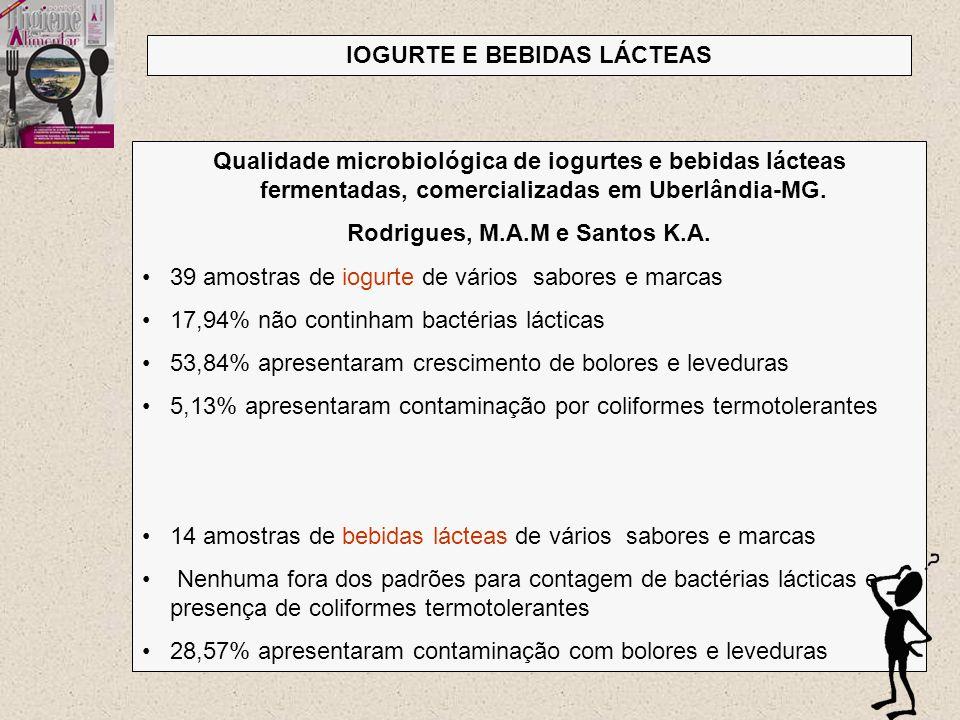 IOGURTE E BEBIDAS LÁCTEAS Rodrigues, M.A.M e Santos K.A.