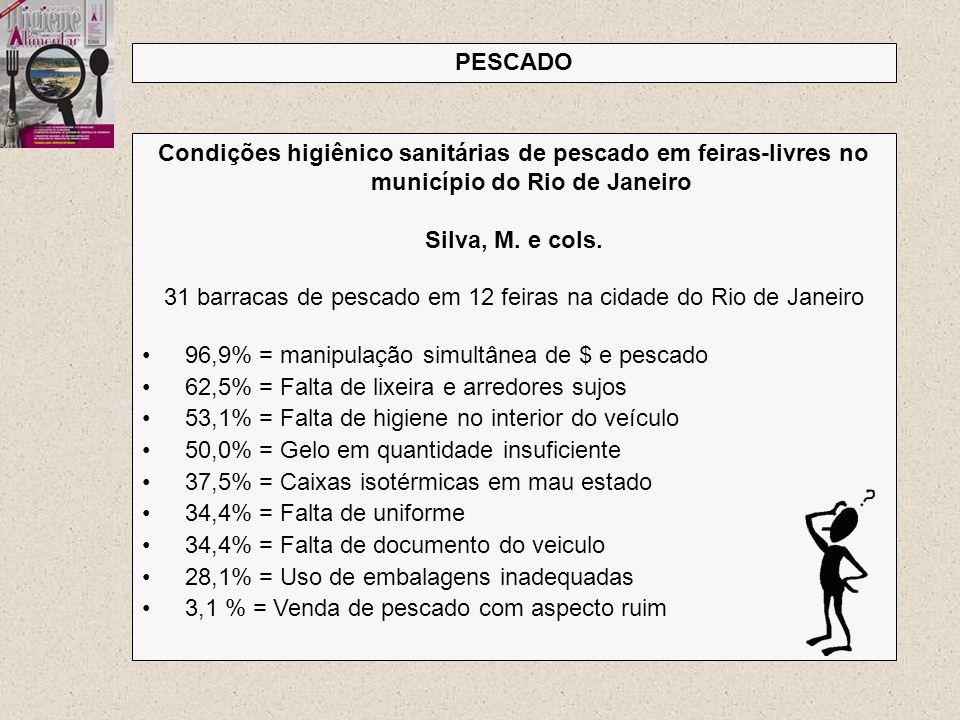 31 barracas de pescado em 12 feiras na cidade do Rio de Janeiro