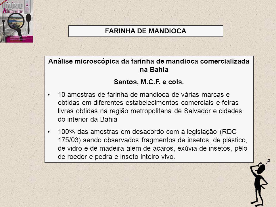 Análise microscópica da farinha de mandioca comercializada na Bahia