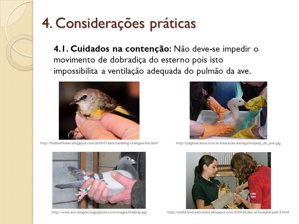 4. Considerações práticas
