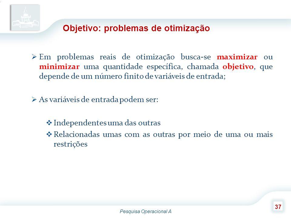 Objetivo: problemas de otimização