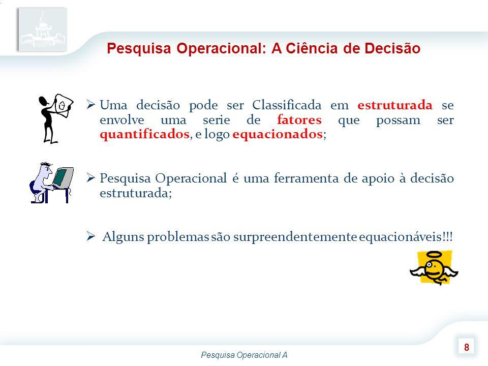 Pesquisa Operacional: A Ciência de Decisão