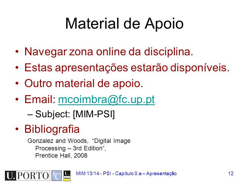 Material de Apoio Navegar zona online da disciplina.