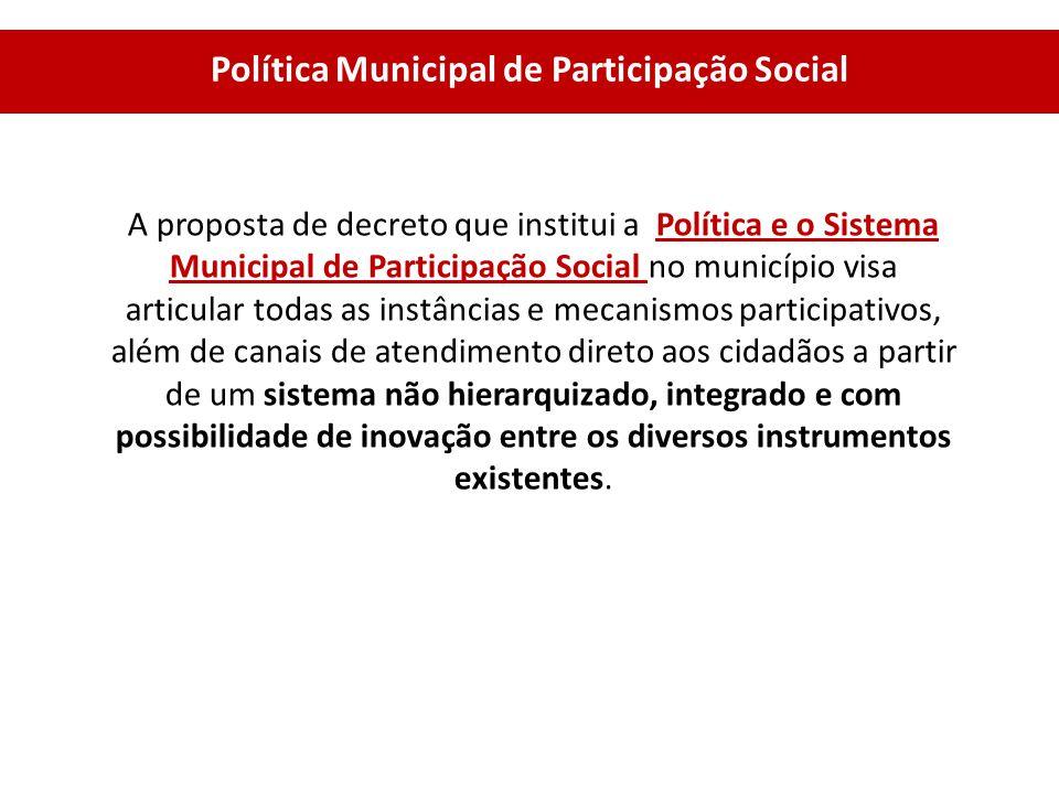 Política Municipal de Participação Social